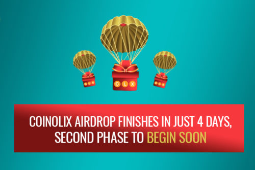 Coinolix Airdrop finishes in just 4 days, Second phase to begin soon