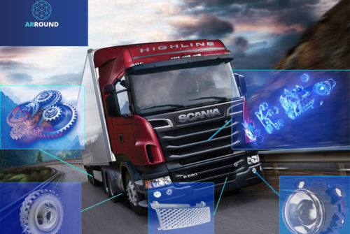 ARROUND and Scania will release ads with augmented reality