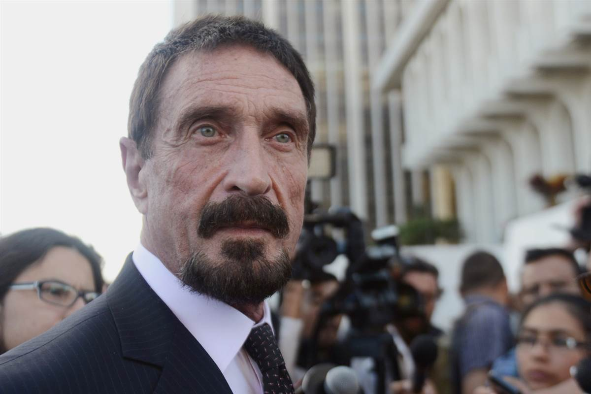 John McAfee Reportedly Released Following Detainment in The Dominican Republic