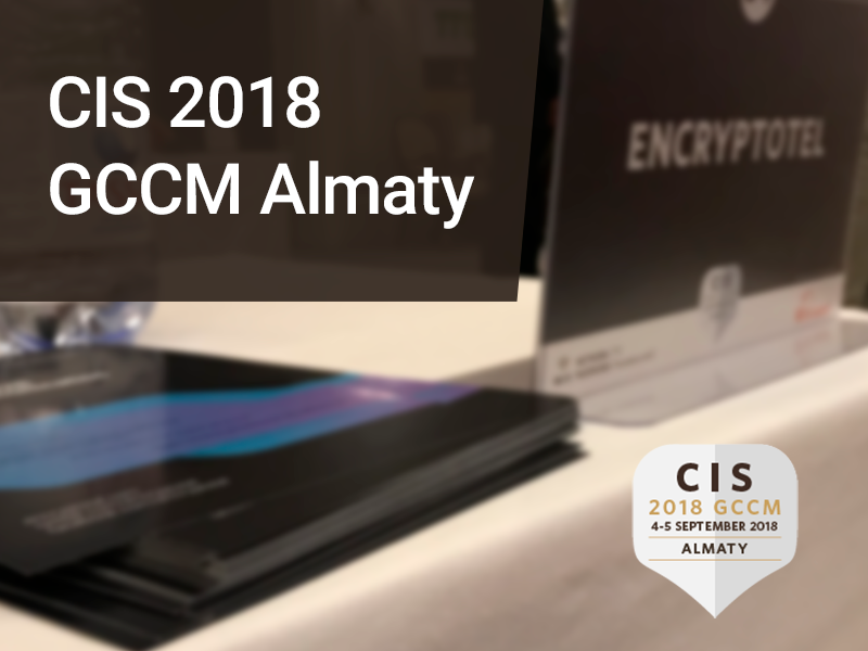 EncryptoTel presented its cloud platform at the CIS 2018 GCCM Almaty telecommunication conference